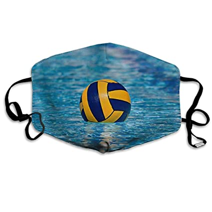 Water Polo Sport Anti-Dust Earloop Face Mask for Women Men, Anti ...