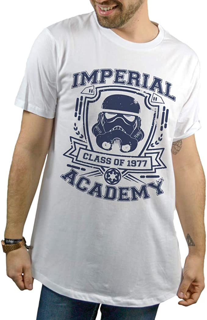 SUPERMOLON Camiseta Unisex Imperial Academy M Blanco Long: Amazon ...