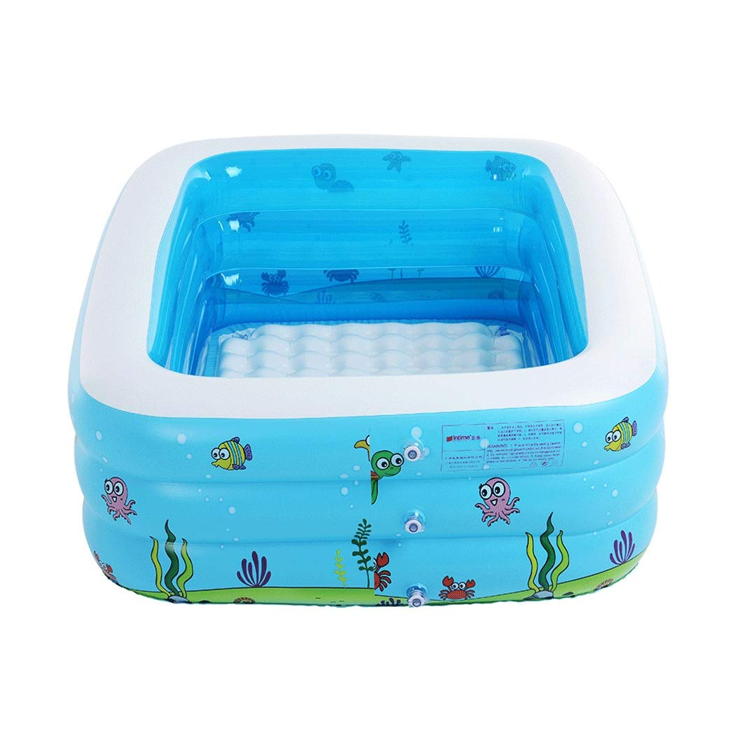 YONGYONG Blue Children's Thick Inflatable Marine Ball Bath Family Swimming Pool 110 * 90 * 46cm (Color : Blue)