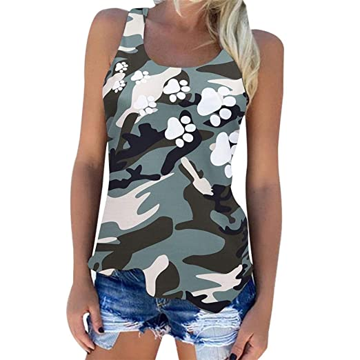 ed3ced3c628 Tank Tops for Women, Large Size Casual Sleeveless Vest Blouse Summer ...