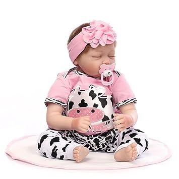 Amazon.com: Muñeca realista de silicona suave para dormir ...