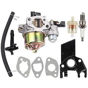 Dalom GX160 Carburetor w Fuel Filter Spark Plug for Honda GX200 WP30X Water Pump Harbor Freight Predator 212cc 6.5hp Go Kart OHV Engine Homelite Pressure Washer 179CC 180CC DJ165F 2.3GPM UT80522D
