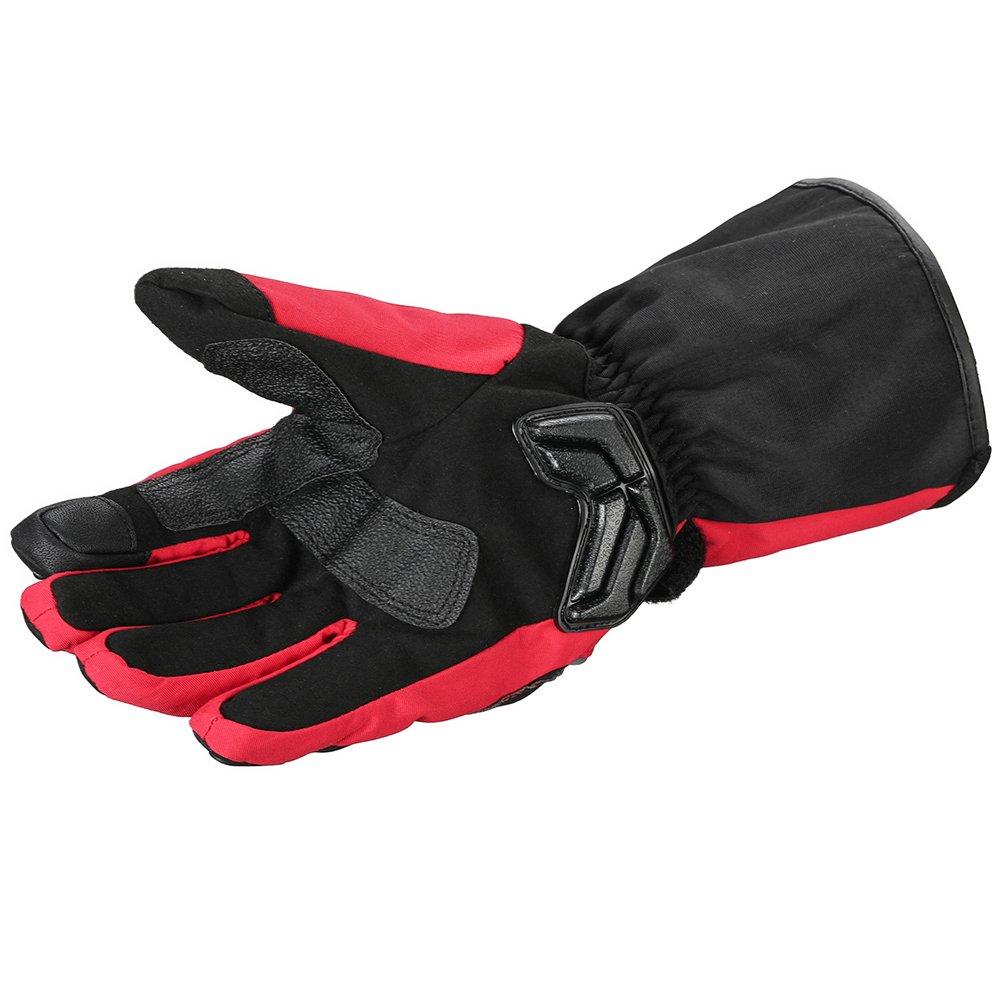 L, Half Finger-BLACK ILM Alloy Steel Fingerless Bicycle Motorcycle Motorbike Powersports Racing Gloves
