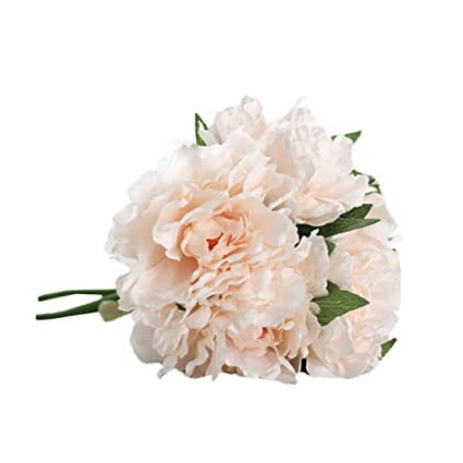 3194761cb9bf74 1 Bouquet 9 Heads Silk Fake Floral Leaf Rose Flower for Home Hotel Office  Wedding Party ...