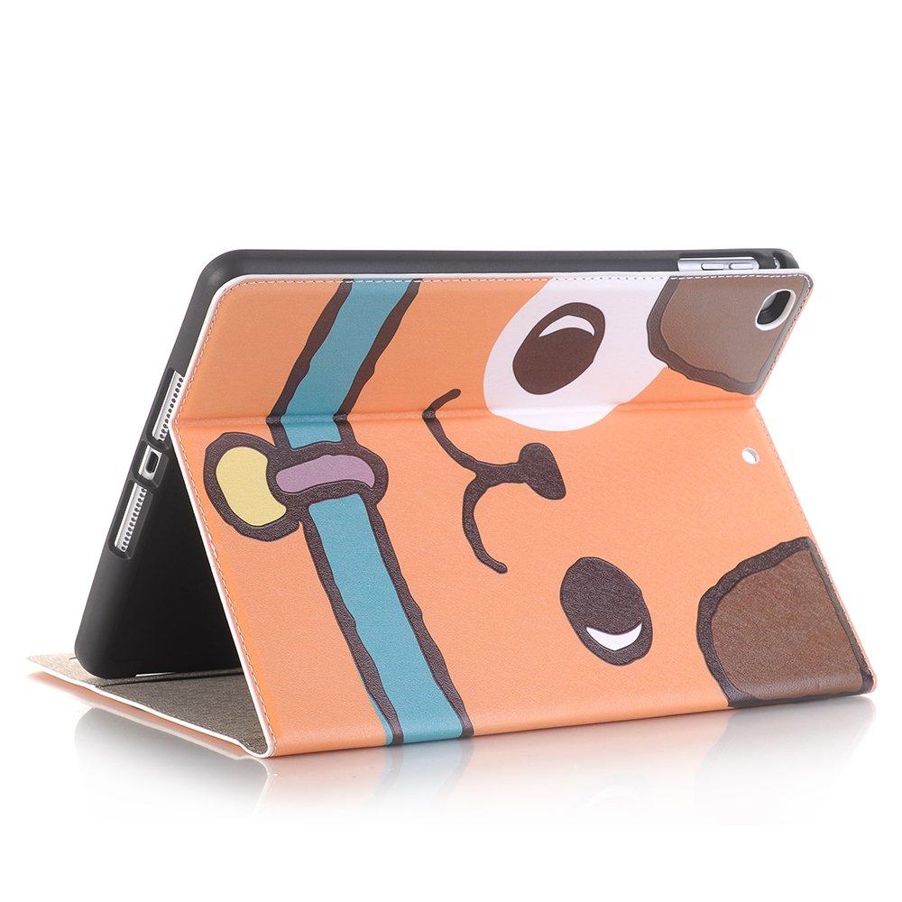MIYA LTD iPad Mini 4 Case Cartoon 7.9 Inch Case Cover Cute, 2015 Apple iPad mini 4 Luxury Folio Case【Stand】 With【Card Slots】 PU leather Smart Full Body Protective Cover (ONLY for iPad Mini 4