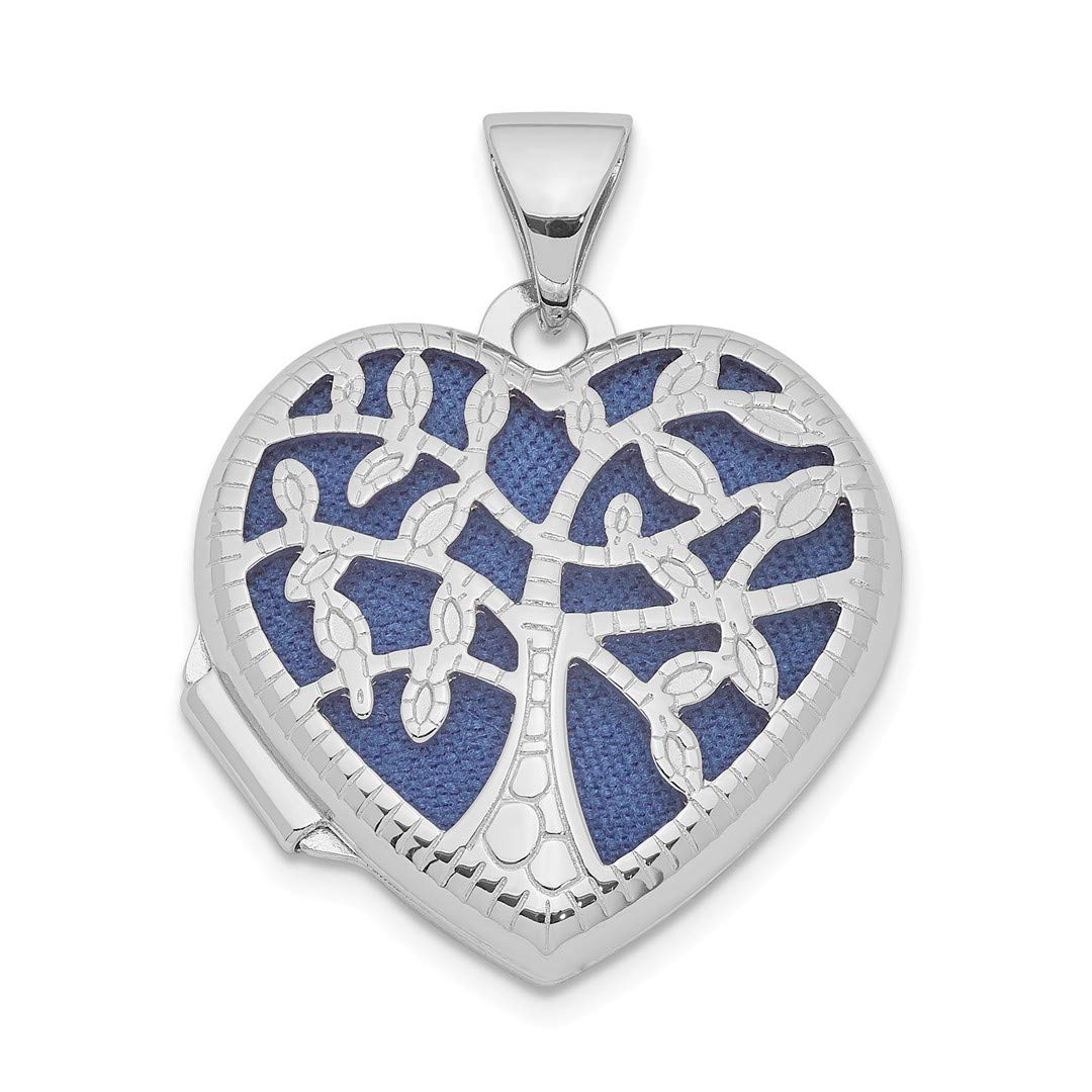 ICE CARATS 925 Sterling Silver 18mm Filigree Tree Heart Photo Pendant Charm Locket Chain Necklace That Holds Pictures Fine Jewelry Ideal Gifts For Women Gift Set From Heart