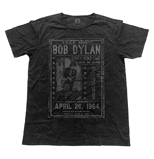 2b6e02a2 Bob Dylan T Shirt Curry Hicks Cage Flyer Official Mens Vintage Finish Black