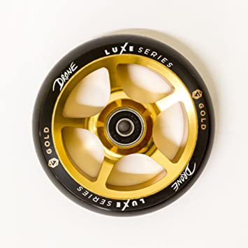 Drone Luxe - Serie 120 mm rueda para patinete - oro: Amazon ...