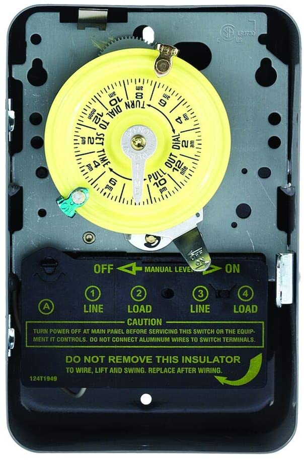 Intermatic T103 Mechanical Time Switch, Gray - Wall Timer Switches -