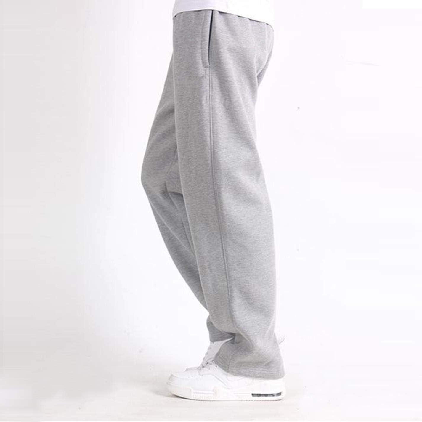 UiVily Mens Plus Size 6XL Solid Baggy Loose Elastic Cotton Sweat Pants