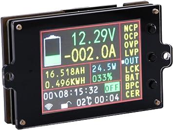 DC 200A Voltage Current Battery Remaining Capacity Meter VOLT AMP Hall Sensor