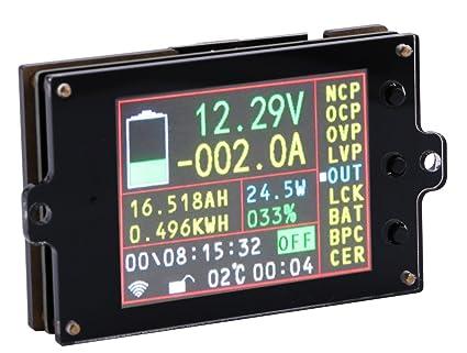 Yeeco 80V 100A Wireless Digital DC Voltmeter Ammeter Multimeter, 2 4