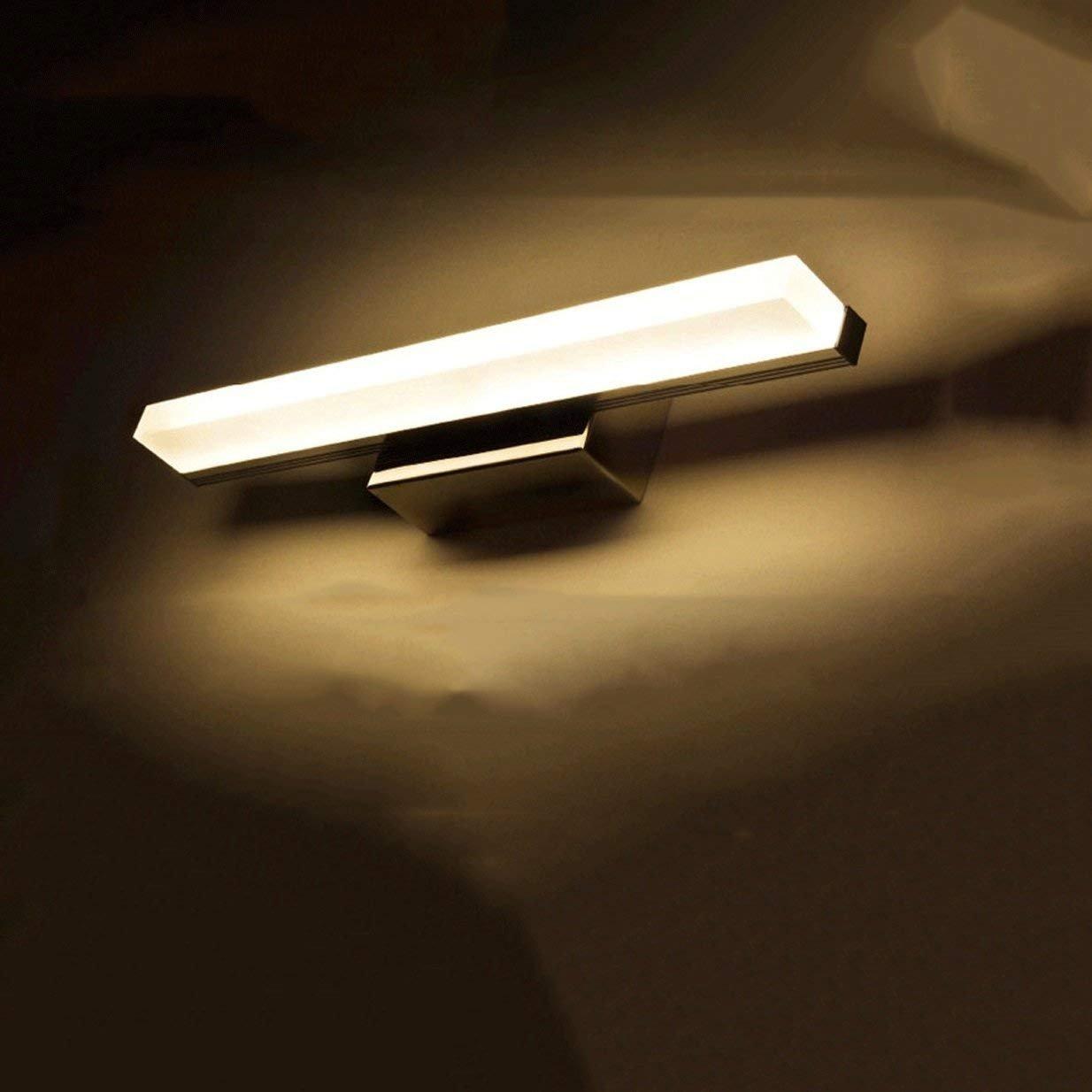 JBP Max Spiegelleuchte Badezimmerleuchte Spiegel Frontleuchte LED Spiegelleuchte Badezimmer Edelstahl Schminkspiegel Wandleuchte - JBP7,Weißlight,9W 60CM