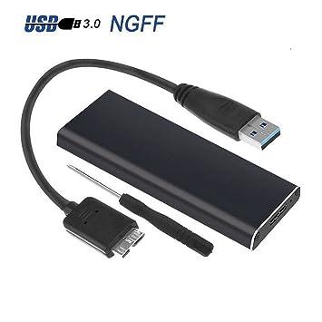 Generic - Adaptador de carcasa externa USB 3 ure Sto M.2 NGFF SSD ...