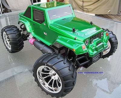 Hot Sale! RC Nitro Gas Monster Truck HSP 1/10 Scale 4WD RTR 2.4G 10315 1 Year Warranty