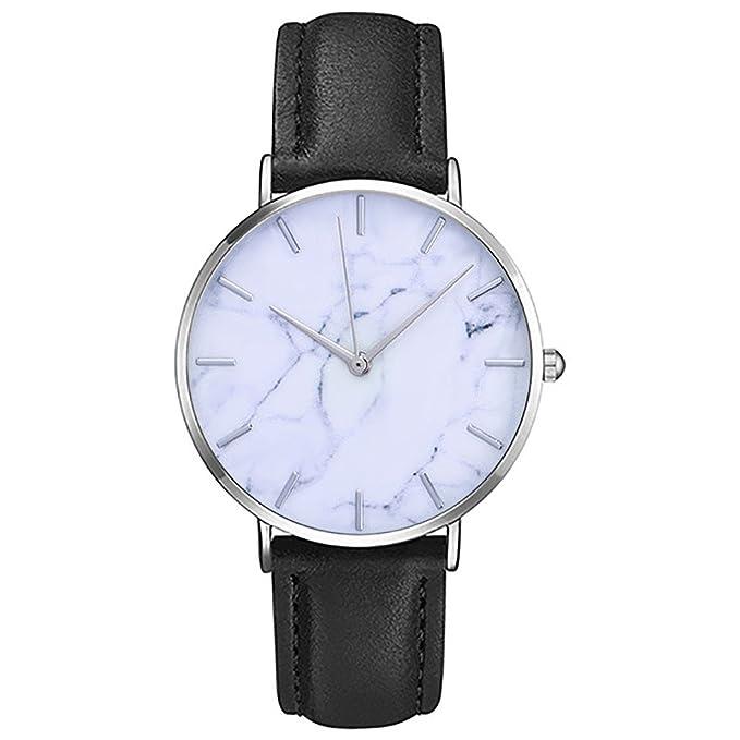 JiaMeng Las Hombre Reloj de Cuarzo Casual clásico del Rhinestone de Cuarzo analógico Relojes de Pulsera(Blanco): Amazon.es: Ropa y accesorios