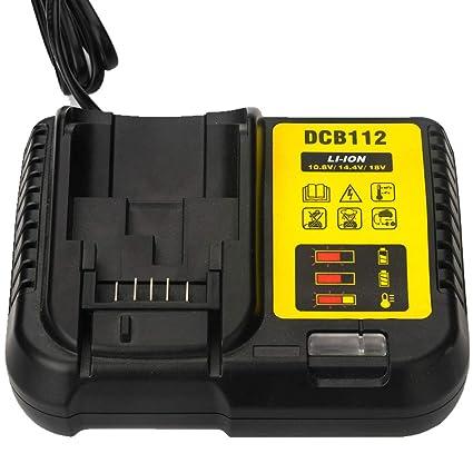 Amazon.com: DCB105 DCB112 Cargador de batería para DeWalt 12 ...