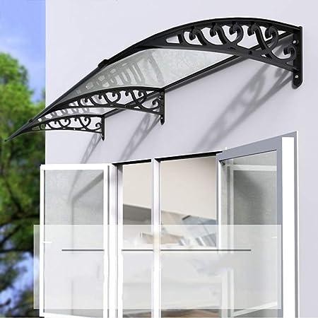 Toldo de la Puerta Toldo de la Ventana del toldo, Panel de policarbonato Transparente, Resistente al Viento/Lluvia y Nieve, Adecuado para balcón con balcón-Tamaño Opcional: Amazon.es: Hogar