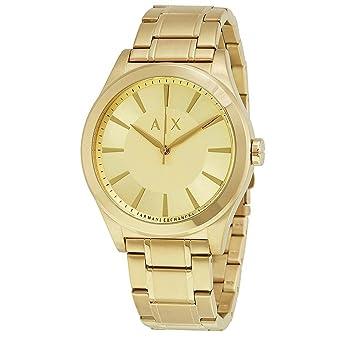 4a7e1a6e7e02 reloj dorado hombre armani