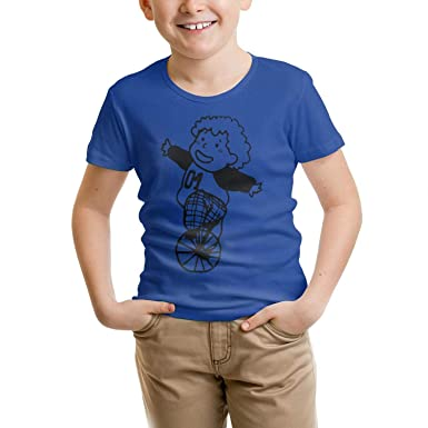 Riding a Single Wheelbarrow All cottonT-Shirts Fashion forKids Shirts Simple Parttern