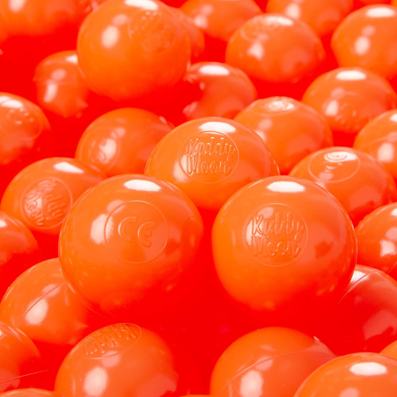 KiddyMoon 300 /∅ 6CM Palline Morbide Colorate per Piscina Bambini Fatto in EU Nero//Bianco//Blu//Rosso//Giallo//Turchese