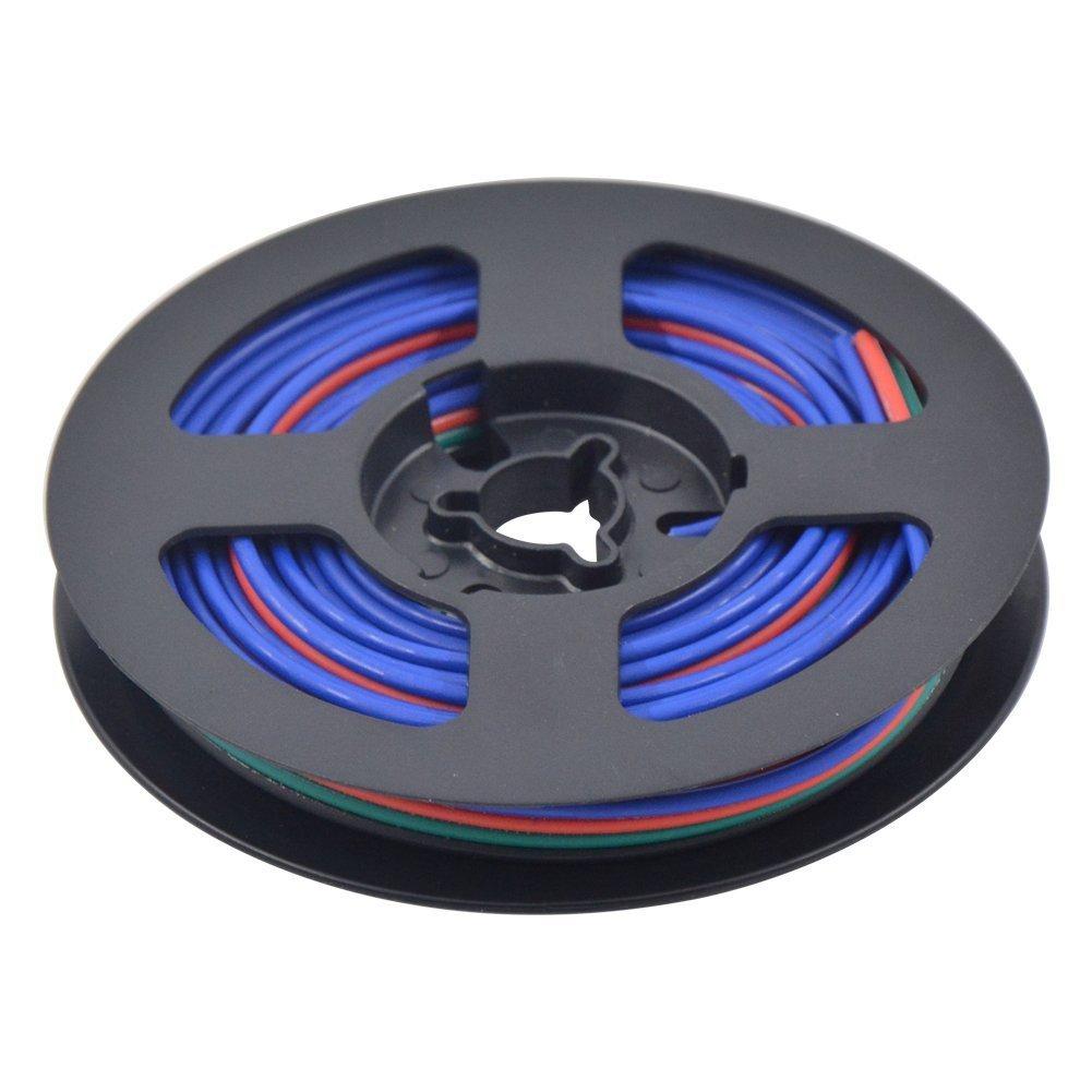 Abaotech 10m 4pin 20awg Led Verlngerungskabel Draht Antioxidans 3528 5050 Rgb Light Strips Cable Wire Ws2801 Lpd8806 Strip Verzinnten Kupferdraht Fr Apa102 Lpd6803 Pixel Modul