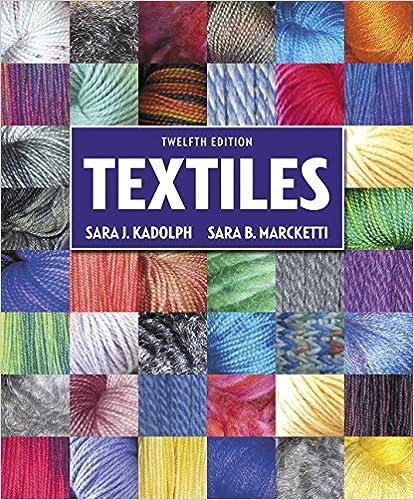 textiles 12th edition sara j kadolph sara b marcketti