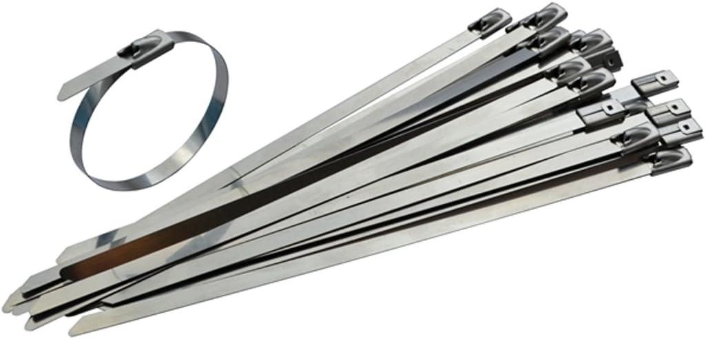 Stainless Steel Cable Ties Zip Ties Heat Tie Wraps 370 x 7.9 Pack of 25
