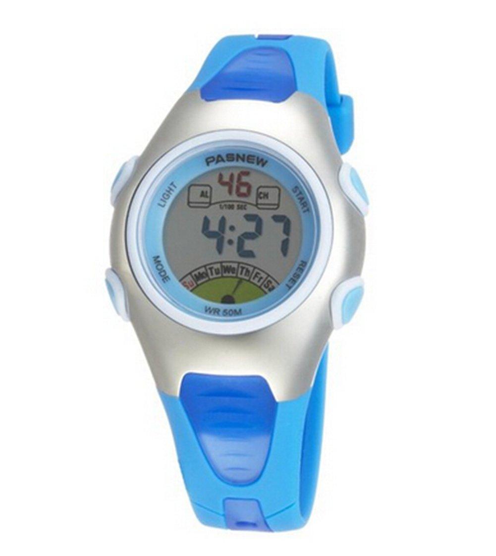 OYang Fashion Waterproof Children Boys Girls Digital Sport Watch with Alarm, Chronograph, Date (Blue)