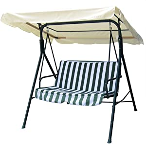 "Yescom 76 3/8"" x 44 1/8"" Outdoor Swing Cover Replacement Canopy UV30+ 180gsm Top for Porch Patio Garden Pool Seat"
