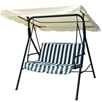 """Yescom 75.75""""x43.75"""" Outdoor Porch Swing Set Cover Replacement Canopy Top for Patio Garden Pool Seat"""
