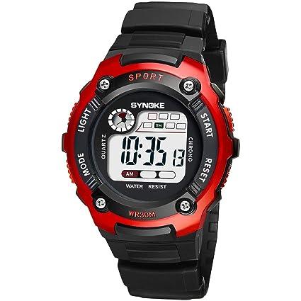 JQXB Reloj Digital, niños Impermeable Relojes de Pulsera con ...