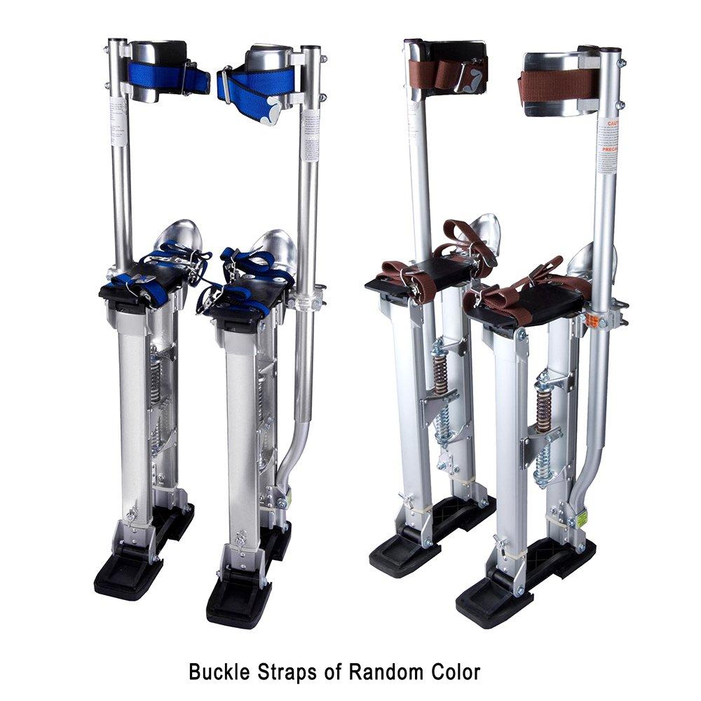 """Silver Professional Grade Adjustable Drywall Stilts Taping Paint Stilt Aluminum 24""""- 40''"""