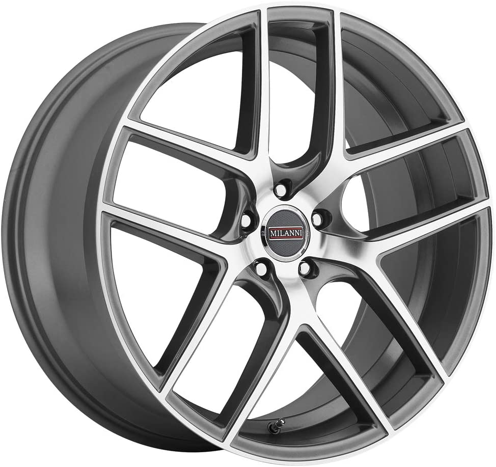 42mm Gunmetal//Machined Wheel Rim 22 Inch Milanni 9052 Tycoon 22x10.5 5x115