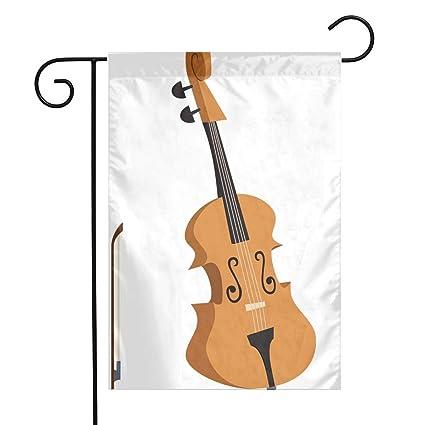 Amazon Com Cello Clipart Classical Instrument Garden Flags