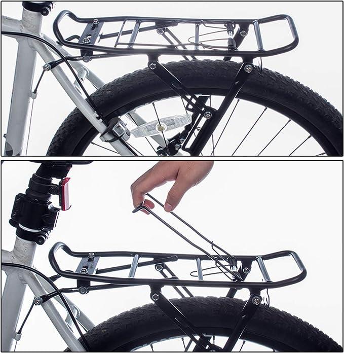 WINJEE, Freno de Disco Aleación de Aluminio Bastidor Trasero de Bicicleta MTB Bicicletas Plegables Portaequipajes Bolsa Portaequipajes: Amazon.es: Hogar