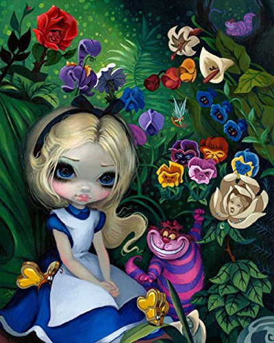 Disney Parks Wonderground Gallery Alice In The Garden Post Card