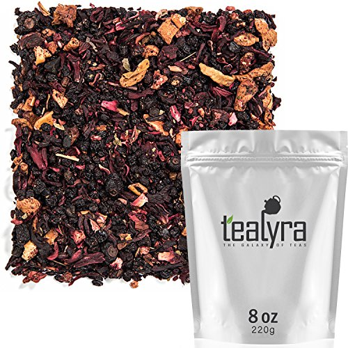 Tealyra - Grandma's Garden Berry - Fruit Tea Blend - Hibiscus and Berries Based Herbal Loose Leaf Tea - Vitamines Rich - Caffeine-Free - Hot and Iced Tea - 220g (8-ounce)
