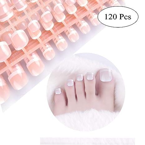 Amazon.com: SIUSIO 120 piezas de uñas de dedo del pie ...