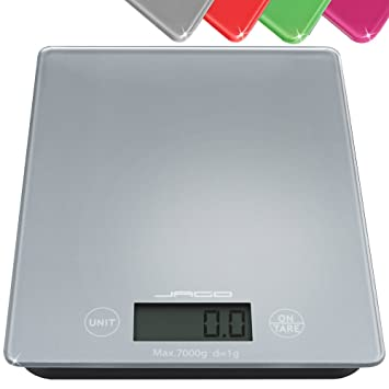 Jago - Balanza digital - Plateado - 1,0-7000g - Diferentes colores a elegir: Amazon.es: Hogar