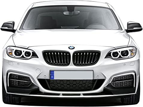 P Style Unpainted Black PP Front Lip Finisher Under Chin Spoiler Add On IKON MOTORSPORTS Front Bumper Lip Compatible With 2014-2020 BMW F22 2 Series