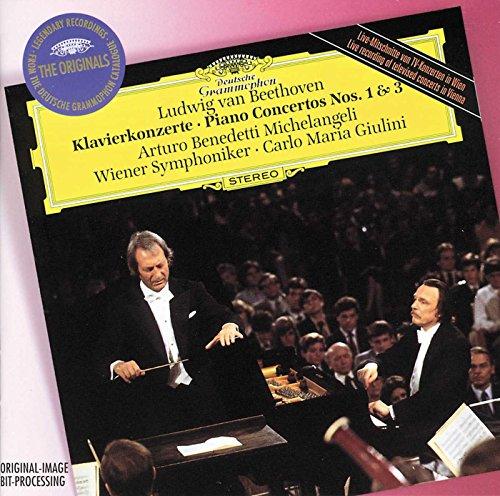 Beethoven: Piano Concertos Nos. 1 & 3 / Michelangeli, Giulini