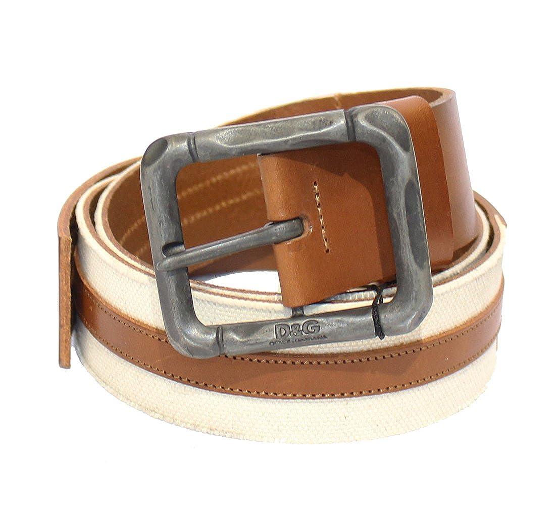 428a8b2245c59 Dolce   Gabbana - Ceinture - Homme Panna-Cuoio 100 cm  Amazon.fr  Vêtements  et accessoires