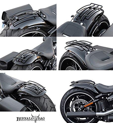 Breakout und FatBoy au/ßer Heritage Springer Harley Davidson Buffalo Bag. Deluxe Gep/äcktr/äger schwarz Softail Solositz speziell f/ür Heritage+Springer Classic