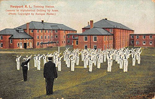 Newport Rhode Island Training Station Military Antique Postcard K61540