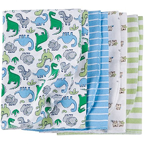 Gerber Baby Boys 4 Pack Flannel Receivin - Gerber Diaper Bag Shopping Results