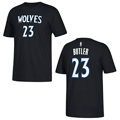 Jimmy Butler Minnesota Timberwolves Black Name and Number T-shirt XX-Large