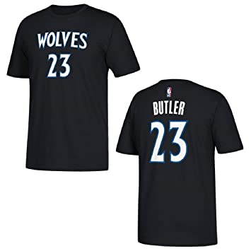 separation shoes 4fbd7 6500d adidas Jimmy Butler Minnesota Timberwolves Black Name and Number T-Shirt