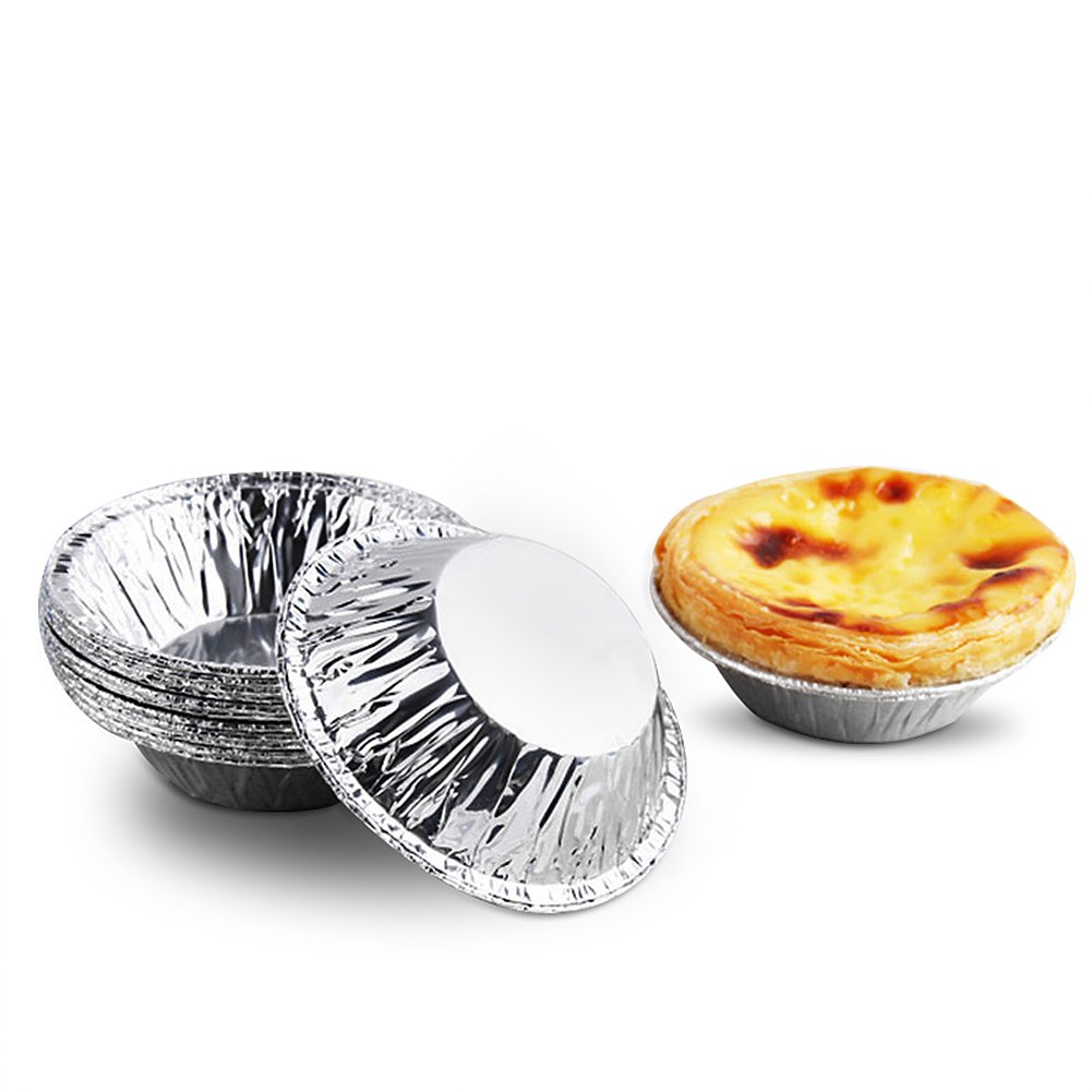Pack of 250 Disposable Tin foil Egg Tart Mould Muffin Cupcake Tin Mold Fulstarshop