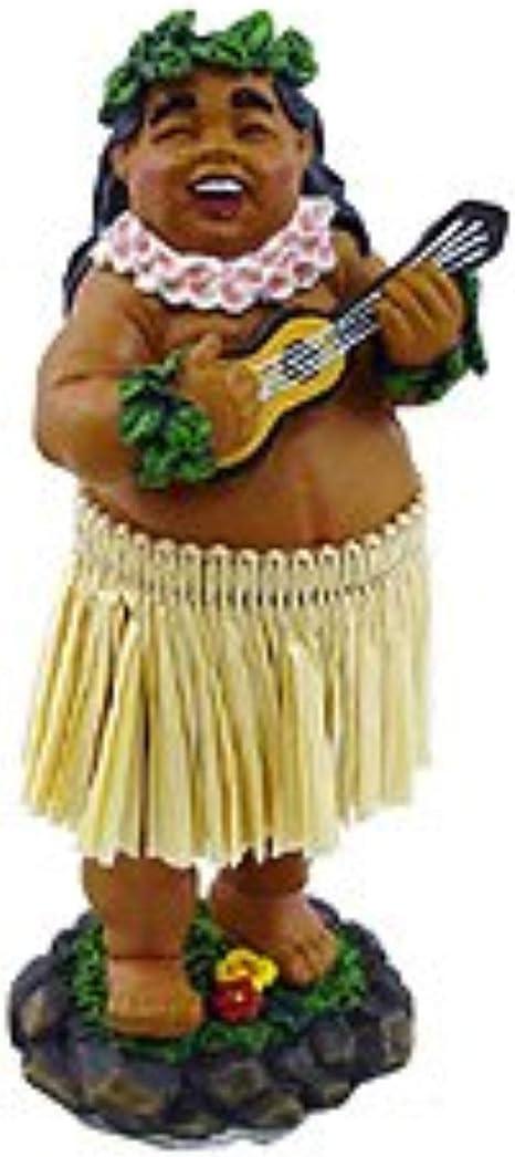 """Hawaiian Tiki Dashboard Spring 4/"""" Doll from Hawaii"""